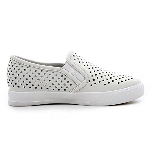 Minivog Five-star Meshed Wuss Loafer Shoe White