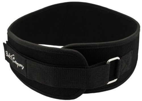 Heavy Duty Power Lifting Gürtel schwarz inkl. extra Schutz-Zonen und Klettverschluss, L