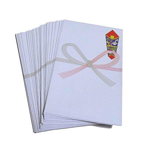 Japanese Money Envelope Gift Pochibukuro for New Year (Small) Set of 30 (Japanese Money Clip)