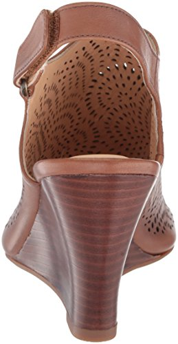 Leather Tan Dawn Clarks Women's Wedge Sandal Raven wxYqT1qA