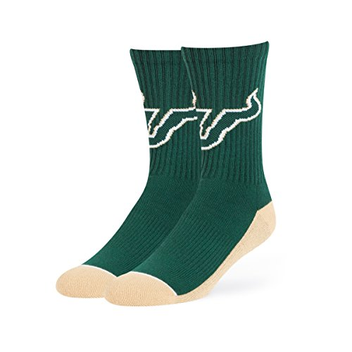 NCAA South Florida Bulls OTS Anthem Sport Socks, Large, Dark Green