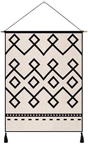 壁掛けタペストリー コットンのシーツシンプルな壁掛け寝室のリビングルームの入り口廊下の背景の装飾、D 寝室用タペストリー (色 : A)