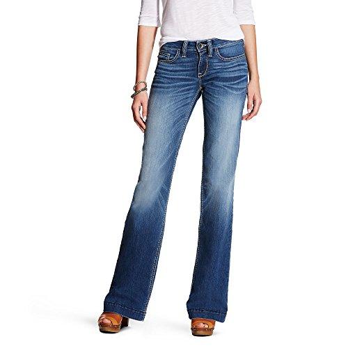 Ariat Women's Trouser Jean, Bonnie Stitch, 28 Long
