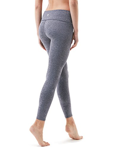 Tesla TM-FYP51-SDV_Medium Yoga Pants Mid-Waist Leggings w Hidden Pocket FYP51