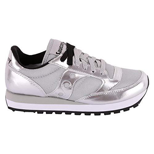 1044 Silver Original Metallizzata Saucony Jazz Sneakers In Pelle vfxawY0n
