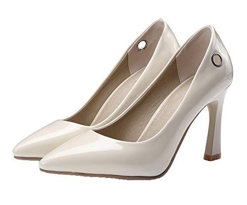 Tsfdh004291 Talon Beige Haut À Unie Chaussures Femme Légeres Couleur Aalardom qE8pzZ