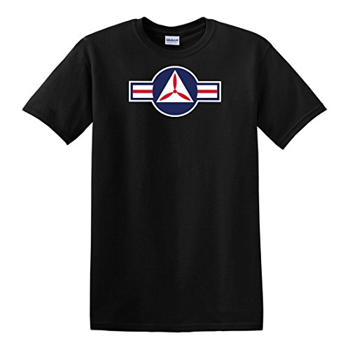 - fagraphix Men's United States Air Force USAF Civil Air Patrol Roundel T-Shirt XXX-Large Black
