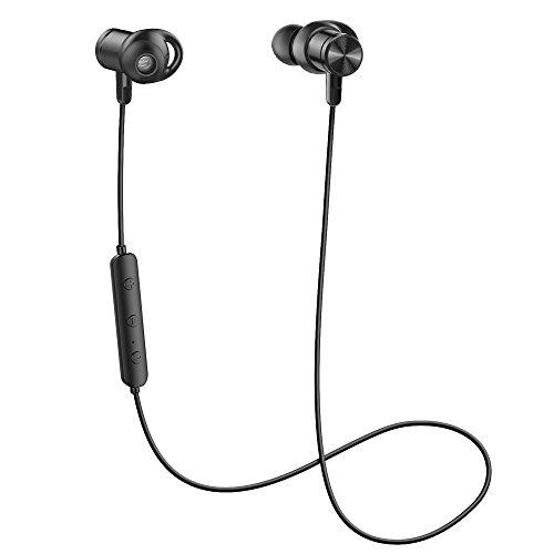 Audífonos Bluetooth 4.1 Mindkoo, Auriculares Inalámbricos Deportivos Impermeable IPX5 con Conexión Magnética, Micrófono...
