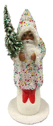 - Pinnacle Peak Trading Company Ino Schaller Confetti Sugarbead Santa German Paper Mache Candy Container