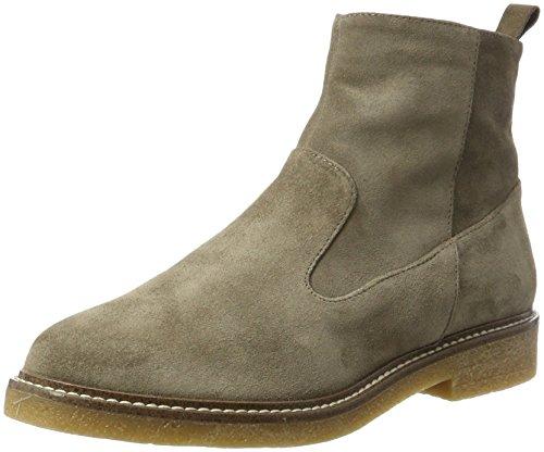 Bianco Wildleder Boots - Botines Chelsea Mujer Beige (Stone)