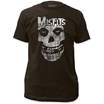 Impact Misfits Distressed Skull Men's Fitted Jersey T Shirt