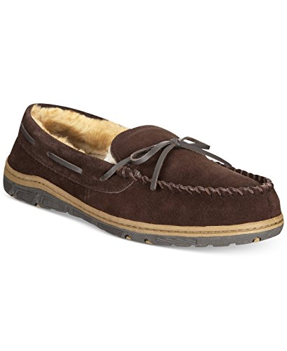Rockport Bow Suede Non-Slip Men's 11M Moccasin Slippers Brown 11