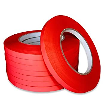 Red Produce Bag Closer seal tape 3//8 x 180 Yards 10 Rolls
