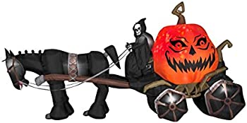 Gemmy 14 ft. Projection Inflatable-Fire and Ice-Grim Reaper