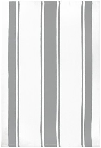 MUkitchen 100% Cotton Oversized Designer Kitchen Towel, Nickel - 20 x 30 ()