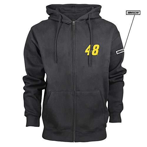 NASCAR Hendrick Motorsports Jimmie Johnson Mens M Benchmark FZ HoodM Benchmark FZ Hood, Black, XL ()
