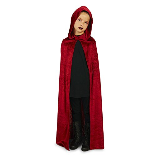 Wine Velvet Child Cape One Size (Little Red Riding Hood Cosplay)