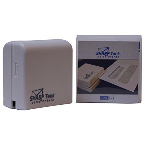 SharpTank Electric Letter Opener (Battery Operated Envelope Opener)