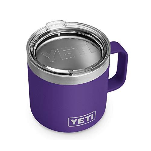 YETI Peak Purple Rambler Mug 14 Ounce, 1 EA (Snow Tumblr Lights Christmas)