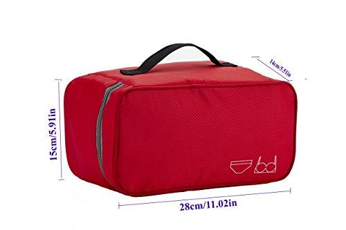 Packing Organizer Bra Underwear Storage Bag Travel Lingerie Pouch Toiletry Organizer Handbag Cosmetic Makeup Bag Luggage Storage Case For Cosmetics, Toiletries, Hotel, Home, Bathroom, Airplane (Rosy)