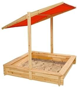 Simba 100004524 - Arenero de madera con toldo