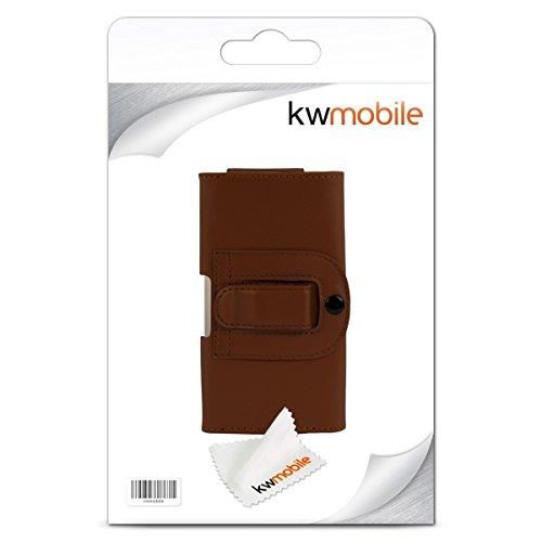 kwmobile Gürteltasche Hülle für Apple iPhone 6 / 6S / 7 mit Gürtelclip - Kunstleder Gürtel Case mit Gürtelschlaufe in Braun
