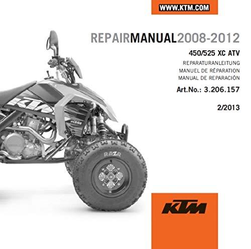 NEW KTM OEM REPAIR MANUAL DISK DVD 2008-2011 450 525 XC ATV 3206103