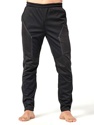 INBIKE Cycling Running Pants Jogger Winter Windproof Long Straight Sweat Pants Black Medium ()