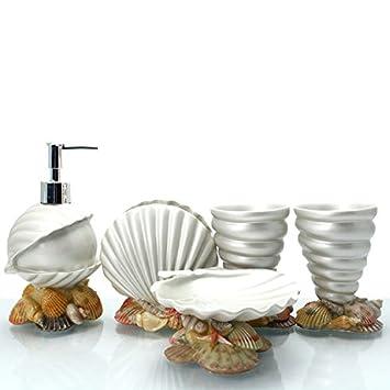 brandream luxury bathroom accessories elegant resin bathroom set5pcsshell
