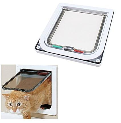 Wonderful Namsan 4 Way Cats Puppy Doggie Small Dog Glass Door Pet Screen Door  Protector  White
