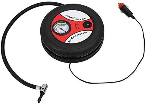 Bomba de inflado del neum/ático del Coche Compresor de Aire Mini neum/ático Dise/ño 12 V Voltaje de Entrada M/áquina de inflado el/éctrica Adecuada para la mayor/ía de los autom/óviles