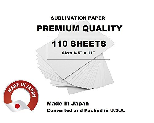 Sublimation transfer paper - 110 SHEETS size 8.5'' x 11'' - Great for Sawgrass Virtuoso SG400 and SG800, RICOH printers and others. by Eventprinters