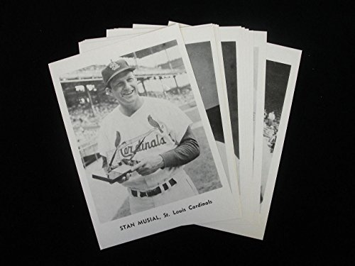 Set of 12 1961 Jay Publishing St. Louis Cardinals Photo Pack Photographs - MLB Autographed Miscellaneous Items (Photos Autographed Miscellaneous)
