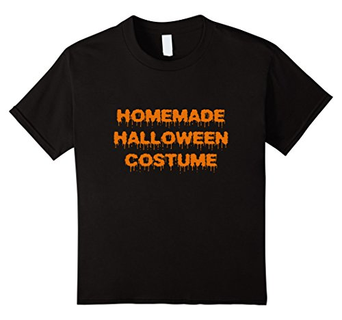 Kids Homemade Halloween Costume T-Shirt 4 Black