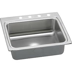 Elkay Lustertone LR25223 Single Bowl Top Mount Stainless Steel Kitchen Sink