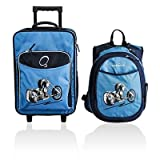 Obersee Kids Luggage and Backpack Set with Integrated Cooler, Space
