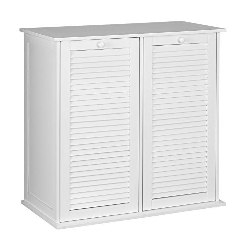 Household Essentials Tilt-Out Laundry Sorter Cabinet with Shutter - Tilt Out Hamper
