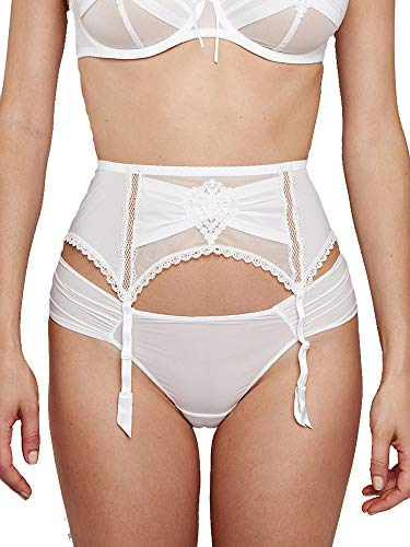 Maison Lejaby Elixir G61461-801 Women's Attrape Coeur Lily White with Lace Tanga Knickers Panty G61461-801 - Lace Briefs Lejaby