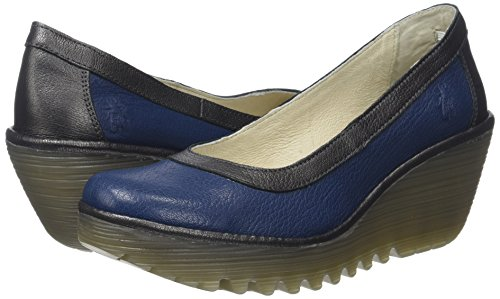 London blue De Fly Cerrada Mujer Punta Con Yano838fly graphite Azul Para Tacón Zapatos OPH11dwnCq