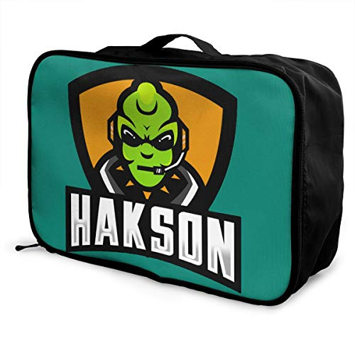 Gaming Alien LOGO Lightweight Large Capacity Portable Luggage Bag Fashion Travel Duffel Bag