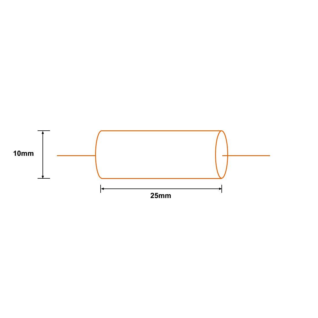 sourcing map Condensador De Pel/ícula Redonda 3.3Uf 250V DC Axiales Condensadores De Pel/ícula De Poli/éster Amarillo Divisor De Audio
