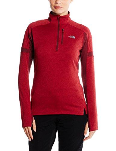 Zip 1/4 Impulse Shirt - The North Face Women's Impulse Active 1/4 Zip Biking Red Deep Garnet Red Size Medium
