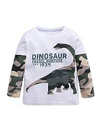Baby Toddler Girls Boys Sweatshirt Shirts Clothes 1-7 Years Old Kids Camouflage Cartoon Dinosaur T-Shirt Tops
