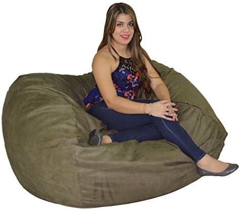 Cozy Sack, , Large Premium Foam Bean Bag Chair, OLIVE