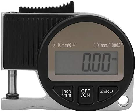 厚さ計、0-10 * 0.01mmデジタル表示器電子厚さ計厚さ計測定ツールゲージデジタル厚さ計