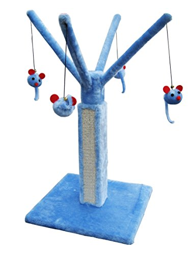 Penn Plax Cat Scratching Post Play Tree with Mouse Toys ()