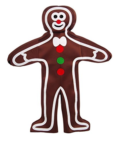 Forum Novelties Men's Gingerbread Man Adult Costume, Multi, One Size ()