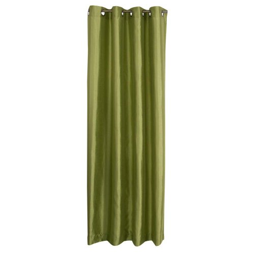 Stylemaster Tribeca 56 by 95-Inch Faux Silk Grommet Panel, Avocado
