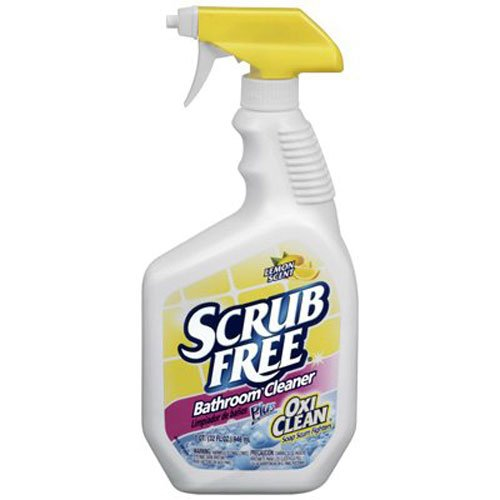 - Scrub Free Bathroom Cleaner with Oxi Clean, Lemon Scent, 32 oz