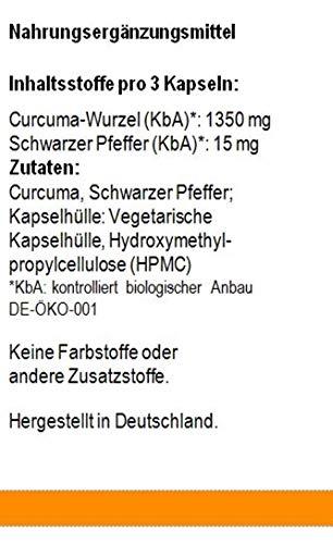 Curcuma Kapseln aus biologischem Anbau
